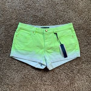 NWT Juicy Couture Ultra Yellow Dip Dye Shorts